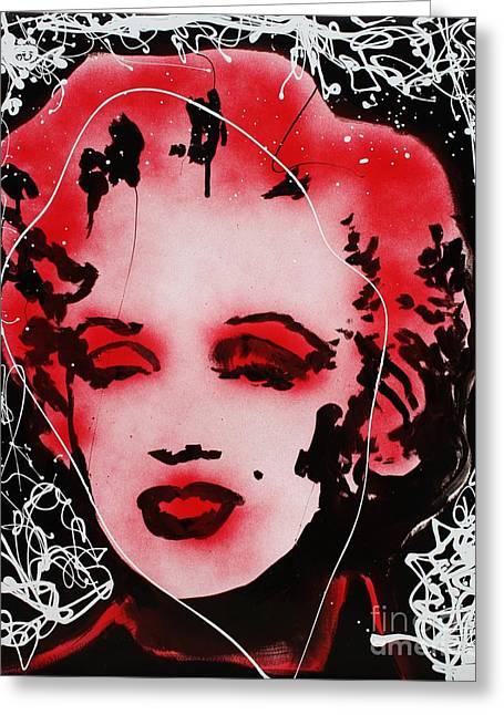 Marilyn Monroe Greeting Card by Michael Kulick
