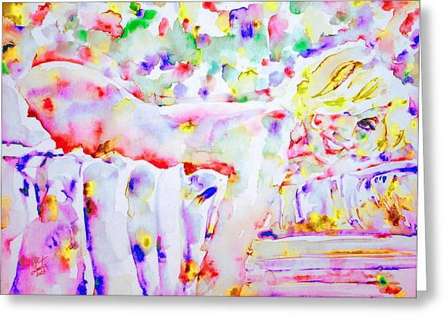 Nude Monroe Greeting Cards - MARILYN MONROE portrait.10 Greeting Card by Fabrizio Cassetta