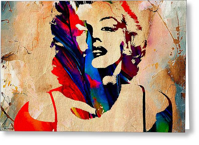Marilyn Monroe Painting Greeting Card by Marvin Blaine