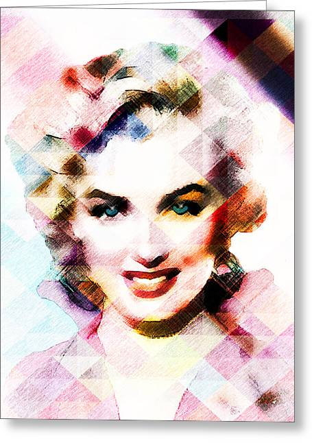 Norma Jean Greeting Cards - Marilyn Monroe Pastel Greeting Card by EricaMaxine  Price