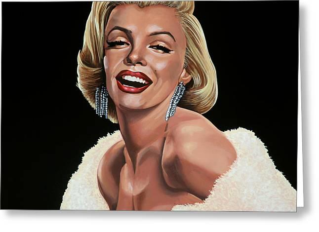 Marilyn Monroe Greeting Card by Paul Meijering