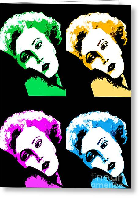 Bathroom Prints Greeting Cards - Marilyn Monroe Pop Art Greeting Card by Natalie Kinnear
