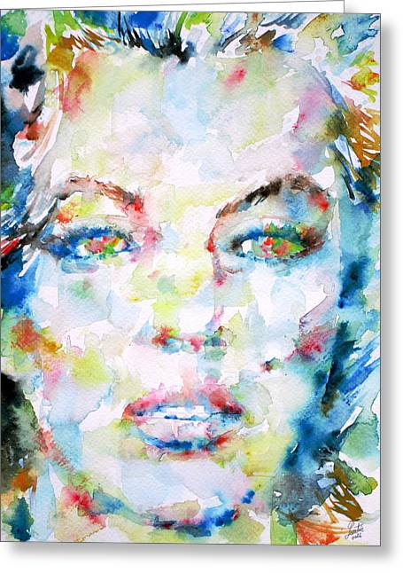Jeane Greeting Cards - MARILYN MONROE portrait.6 Greeting Card by Fabrizio Cassetta