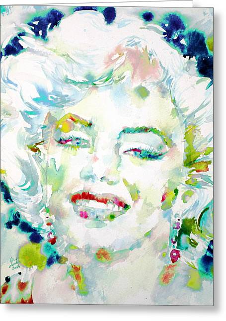 Norma Jeane Greeting Cards - MARILYN MONROE portrait.7 Greeting Card by Fabrizio Cassetta