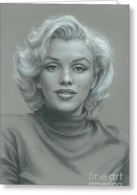 Marilyn Monroe Greeting Card by Robert H Sibold