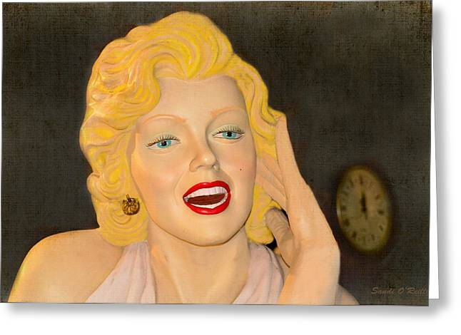 Norma Jean Greeting Cards - Marilyn Monroe Greeting Card by Sandi OReilly