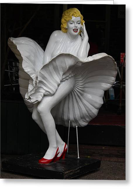 Some Like It Hot Greeting Cards - Marilyn Monroe - Some Like it Hot Greeting Card by Suzanne Gaff