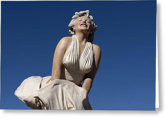 Stewards Greeting Cards - Marilyn Monroe Statue by Steward Johnson in Palm Springs Greeting Card by Carol M Highsmith
