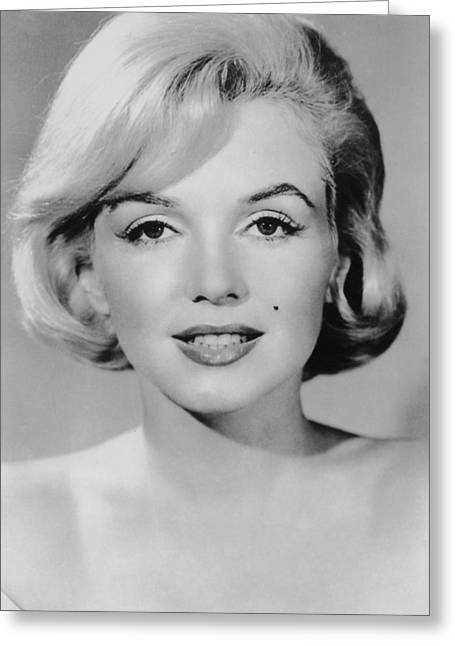 1950s Portraits Greeting Cards - Marilyn Monroe Studio Portrait Greeting Card by Nomad Art And  Design