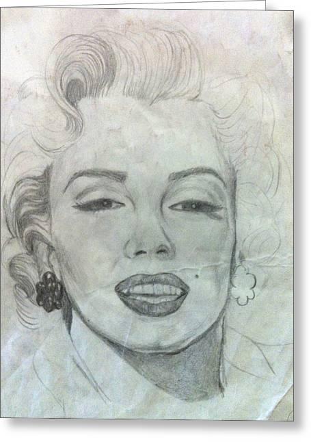 Starlet Drawings Greeting Cards - Marilyn Monroe Greeting Card by Susanne Perez