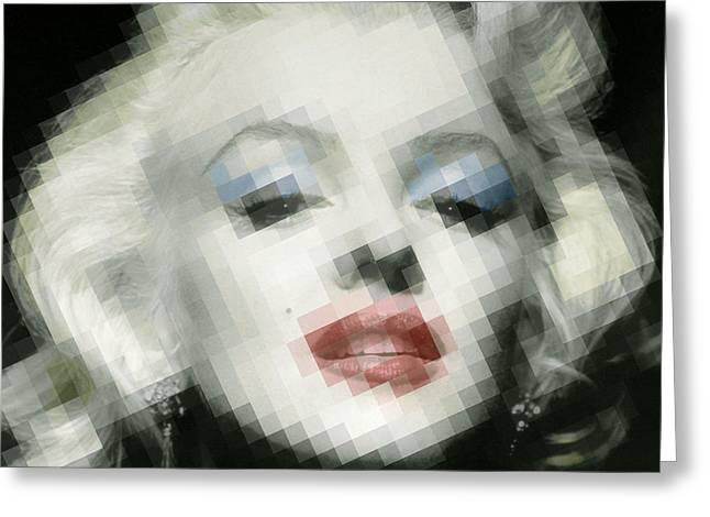 1960 Mixed Media Greeting Cards - Marilyn Monroe Greeting Card by Tony Rubino