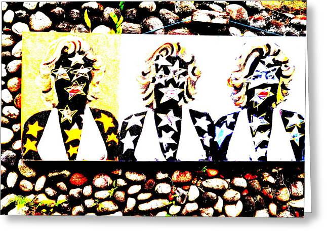 Abstract Digital Photographs Greeting Cards - Marilyn Monroe Wall in Bali Greeting Card by Funkpix Photo Hunter