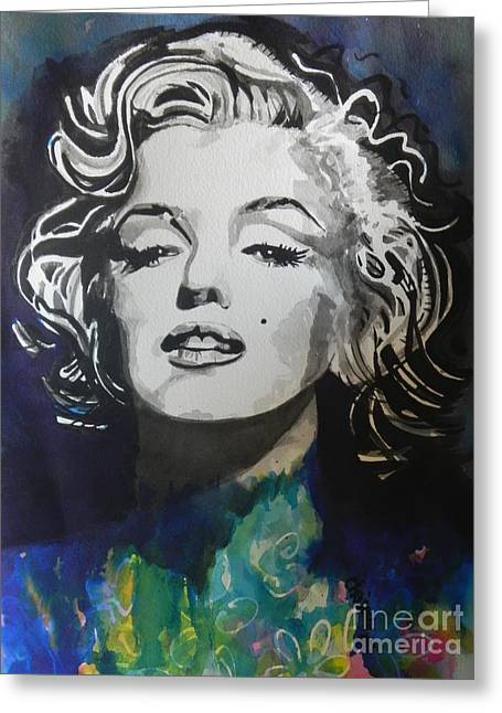 Movie Art Greeting Cards - Marilyn Monroe..2 Greeting Card by Chrisann Ellis