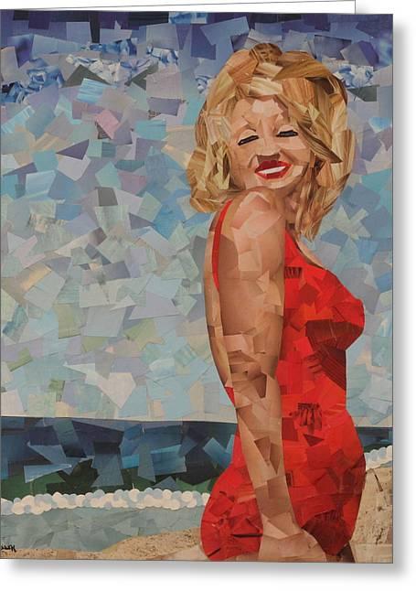 Marilyn Greeting Card by Paula Dickerhoff