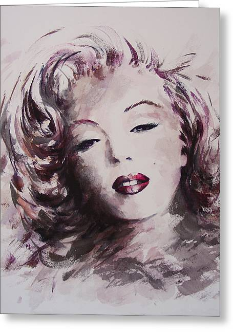 Mortenson Greeting Cards - Marilyn Greeting Card by Rachel Christine Nowicki