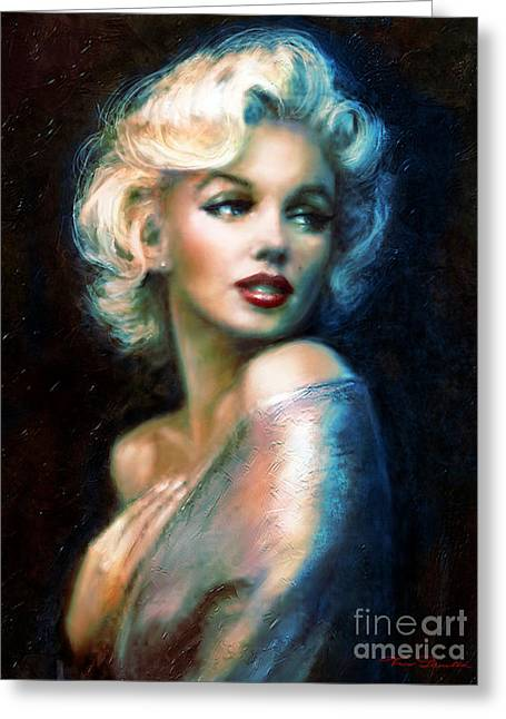 Marlyn Greeting Cards - Marilyn romantic WW 6 A Greeting Card by Theo Danella