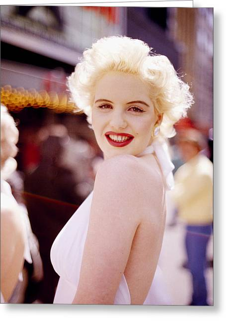 1950s Portraits Photographs Greeting Cards - Marilyn Greeting Card by Shaun Higson
