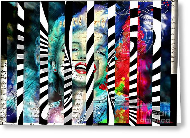 Marilin Greeting Cards - Marilyn SIS 1 Greeting Card by Theo Danella