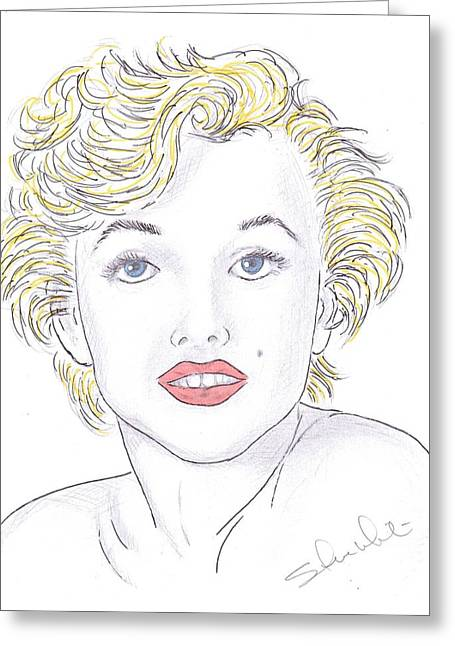 Recently Sold -  - Steven White Greeting Cards - Marilyn Greeting Card by Steven White