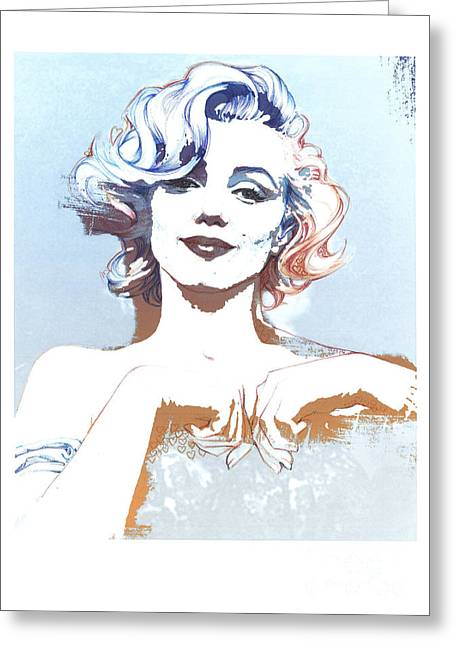 Marilin Greeting Cards - Marilyn Greeting Card by Susana Miranda