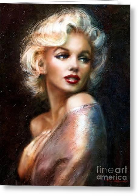Theo Danella Greeting Cards - Marilyn WW classics Greeting Card by Theo Danella