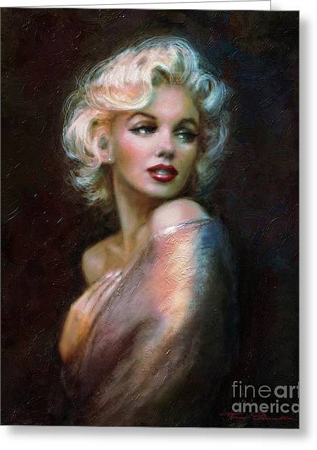 Amazing Paintings Greeting Cards - Marilyn WW  Greeting Card by Theo Danella
