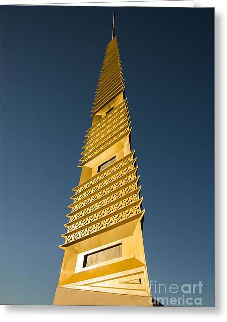 Marin County Greeting Cards - Marin County Civic Center Tower Greeting Card by David Bearden