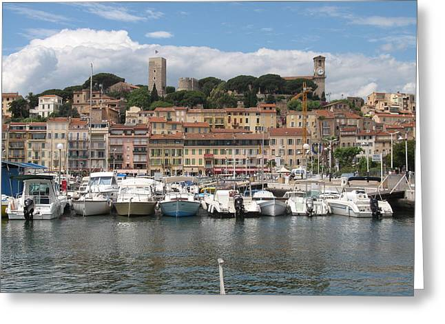 Seacape Greeting Cards - Marina Cannes Greeting Card by Christiane Schulze Art And Photography