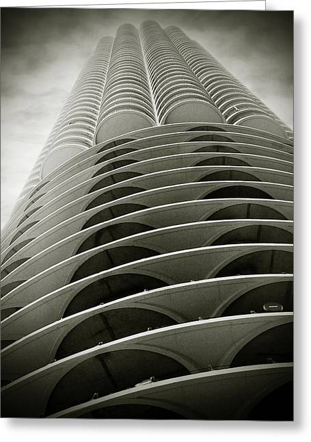 Twins Greeting Cards - Marina City Chicago IL Greeting Card by Christine Till