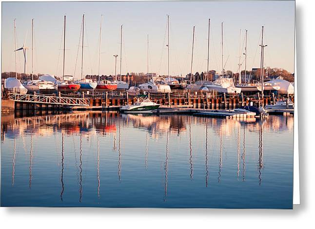 Lee Costa Greeting Cards - Marina Colors Greeting Card by Lee Costa