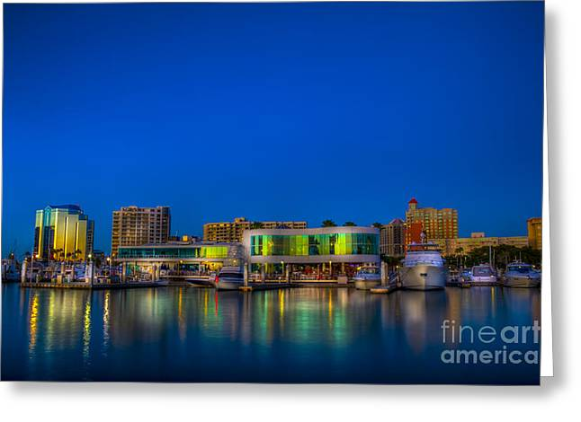 Fine Dining Greeting Cards - Marina Jack Greeting Card by Marvin Spates