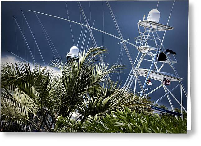 Storm Prints Digital Art Greeting Cards - Marina On A Stormy Afternoon Greeting Card by Phil Mancuso