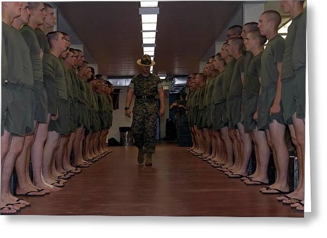 Marine Basic Training Greeting Card by Mountain Dreams