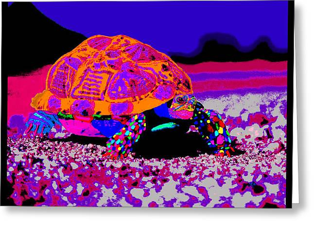 U.s.marine Corporal Greeting Cards - Marine Corporals Turtle in Peace Paint v3 Greeting Card by Kenneth James