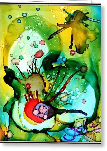 Algae Paintings Greeting Cards - Marine Habitats Greeting Card by Jolanta Anna Karolska