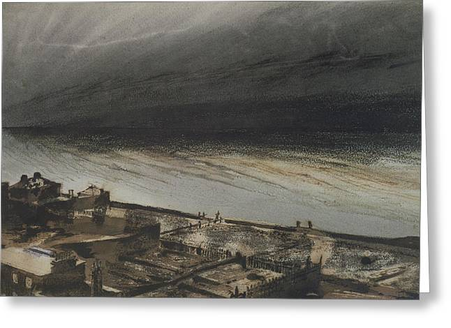 Seascape Drawings Greeting Cards - Marine Terrace in Jersey Greeting Card by Victor Hugo