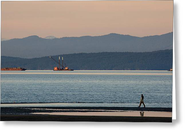 Dredge Greeting Cards - Marine Traffic Greeting Card by Randy Hall