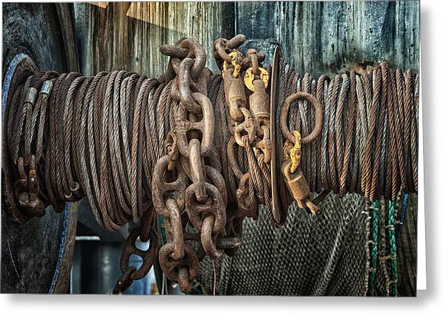 Commercial Fishing Greeting Cards - Marine.6927 Greeting Card by Gary LaComa