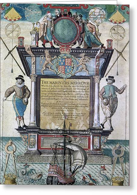 Title Page Greeting Cards - Mariners Mirror, 1588 Greeting Card by Granger