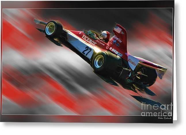 Andretti Greeting Cards - Mario Andretti 1974 Vels-Parnelli VFJ4  Greeting Card by Blake Richards