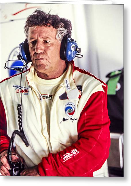 Andretti Greeting Cards - Mario Andretti Greeting Card by Jose Bispo