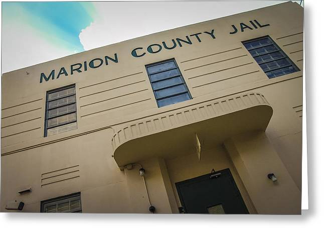 Public Jail Greeting Cards - Marion County Jail Greeting Card by Jon Stephenson