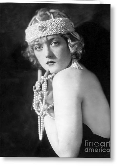 Showgirl Greeting Cards - Marion Davies Greeting Card by MMG Archives
