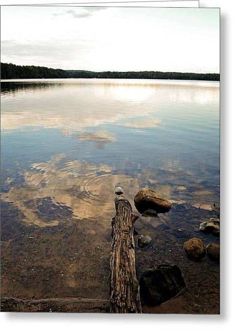 Meditative Greeting Cards - Marion Lake Reflections Greeting Card by Michelle Calkins
