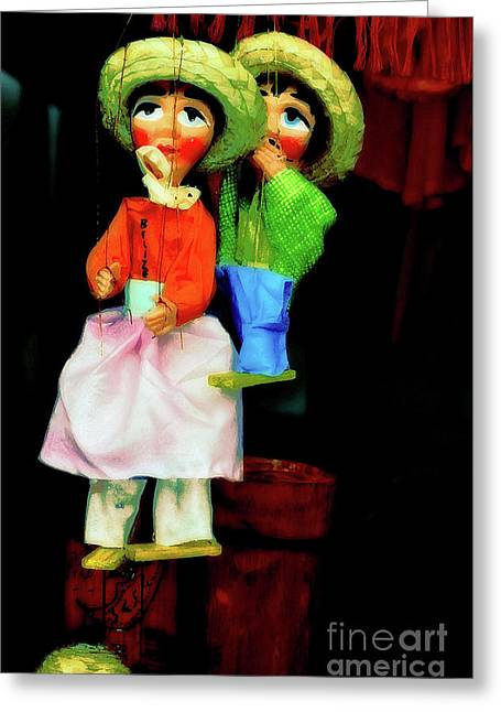 Toy Shop Greeting Cards - Marioneta Greeting Card by Molly McPherson