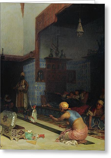 Rosary Greeting Cards - Marionettes In The Harem Greeting Card by Celestial Images