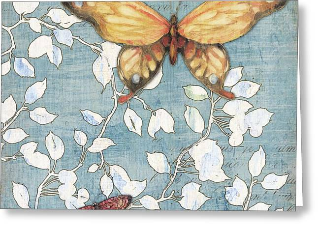 Butterflies Paintings Greeting Cards - Mariposa Butterfly II Greeting Card by Paul Brent