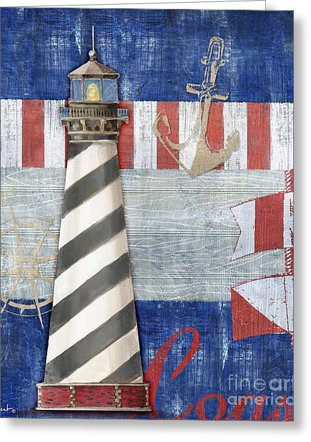 Cape Hatteras Greeting Cards - Maritime Lighthouse II Greeting Card by Paul Brent