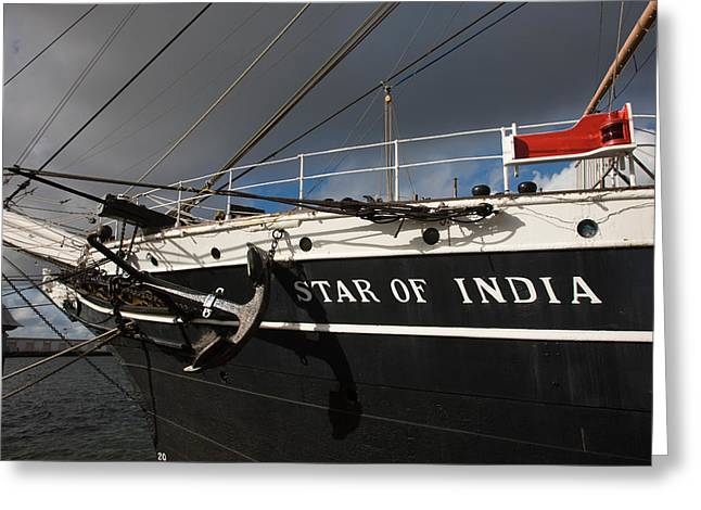Overcast Day Greeting Cards - Maritime Museum On A Ship, Star Greeting Card by Panoramic Images