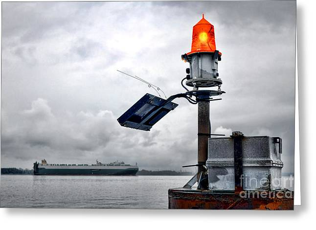 Indicator Greeting Cards - Maritime Safety Greeting Card by Olivier Le Queinec